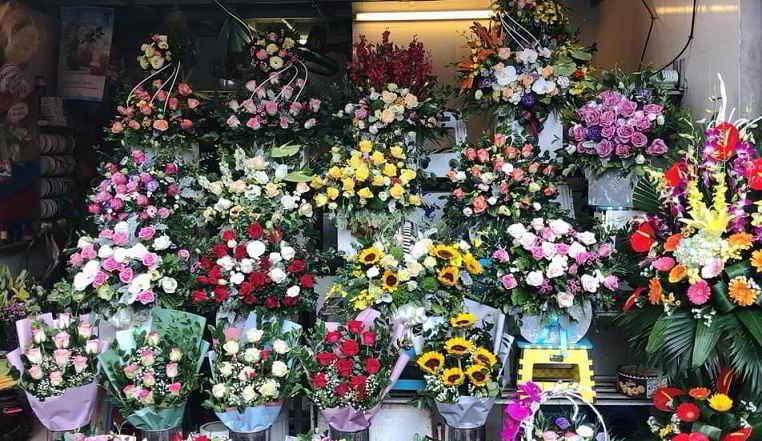 hoa tươi đường phố bình dương